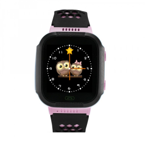 Ceas smartwatch GPS copii MoreFIT™ Q528, cu GPS prin lbs si functie telefon, localizare camera foto, monitorizare spion, display touchsreen color, lanterna,buton SOS, Roz1