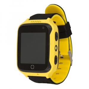 Ceas smartwatch GPS copii MoreFIT™ Q528, cu GPS prin lbs si functie telefon, localizare camera foto, monitorizare spion, display touchsreen color, lanterna,buton SOS, Galben2