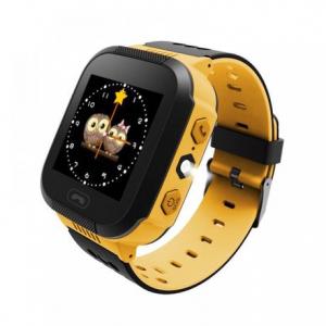 Ceas smartwatch GPS copii MoreFIT™ Q528, cu GPS prin lbs si functie telefon, localizare camera foto, monitorizare spion, display touchsreen color, lanterna,buton SOS, Galben0