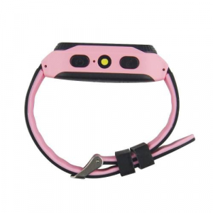 Ceas smartwatch GPS copii MoreFIT™ Q529, cu GPS prin lbs si functie telefon, localizare camera foto, monitorizare spion, display touchsreen color, lanterna, buton SOS, Roz + SIM prepay cadou2
