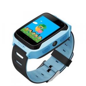 Ceas smartwatch GPS copii MoreFIT™ Q529, cu GPS prin lbs si functie telefon, localizare camera foto, monitorizare spion, display touchsreen color, lanterna, buton SOS, Albastru + SIM prepay cadou [2]