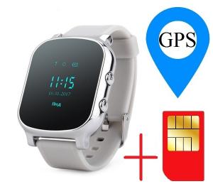 Ceas smartwatch GPS copii sau adultii MoreFIT™ GW700, cu GPS si functie telefon,Wi-Fi, monitorizare spion, buton SOS, Argintiu + SIM prepay cadou1