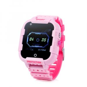 "Ceas smartwatch GPS copii sau adultii MoreFIT™ KT12, GPS, apelare video, 4G, camera 2MP, Wi-FI si functie telefon, ecran touchscreen 1.4"", buton SOS, Roz + SIM prepay cadou0"