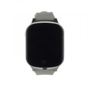 Ceas smartwatch GPS copii si adulti MoreFIT™ GW1000s 3G, cu GPS si functie telefon, camera 1.3MP, Wi-Fi, bluetooth, buton SOS, ecran touchscreen 1.54 inch, monitorizare spion, argintiu si curea din si1