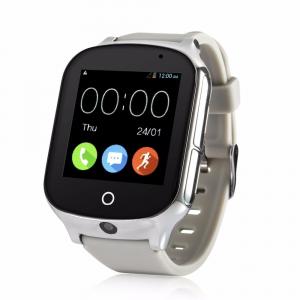 Ceas smartwatch GPS copii si adulti MoreFIT™ GW1000s 3G, cu GPS si functie telefon, camera 1.3MP, Wi-Fi, bluetooth, buton SOS, ecran touchscreen 1.54 inch, monitorizare spion, argintiu si curea din si0