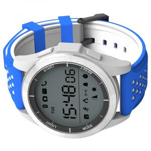Ceas Smartwatch MoreFIT™ F3 Plus Sport, autonomie 12 luni, rezistent la apa ip67, Android/iOS, notificari apeluri, sms, barometru, altitudine, alb/albastru3