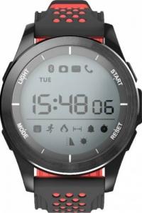 Ceas Smartwatch MoreFIT™ F3S Plus Sport, autonomie 12 luni, rezistent la apa ip67, Android/iOS, notificari apeluri, sms, barometru, altitudine, negru/rosu2