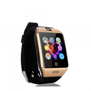 "Ceas Smartwatch MoreFIT™  Q18 Plus Pro, cu sim, display 1.54"", camera foto, carcasa metalica, ecran curbat, NFC, BT 3.0, auriu3"