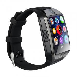 """Ceas Smartwatch MoreFIT™  Q18 Plus Pro, cu sim, display 1.54"""", camera foto, carcasa metalica, ecran curbat, NFC, BT 3.0, negru/negru [3]"""