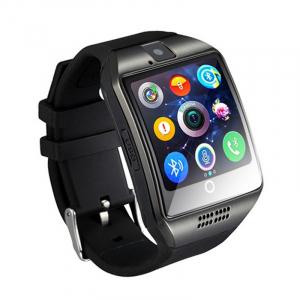 """Ceas Smartwatch MoreFIT™  Q18 Plus Pro, cu sim, display 1.54"""", camera foto, carcasa metalica, ecran curbat, NFC, BT 3.0, negru/negru [0]"""