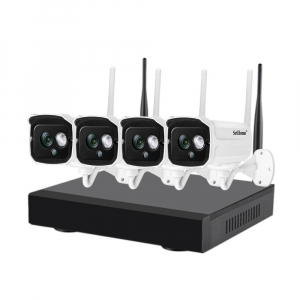 Kit supraveghere video Sricam™ NVS002 WI-FI, 2MP FullHD 1080p, rezistent la apa, hotspot, NVR, night vision0