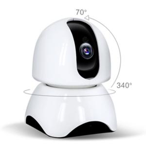 Set Baby Monitor Wireless BabyToy™ AR23 , Monitorizare Video Audio Bebelusi , Vedere Nocturna, Sunet Bidirectional, Functie Push To Talk, Rotire Automata, Full HD 2MP 1920*1080, Senzor Miscare, Alb + [3]