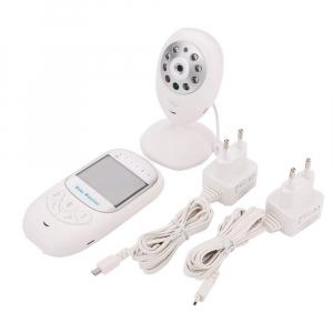 Set Baby Monitor Wireless BabyToy™ BM108 , Monitorizare Video Audio Bebelusi , Monitorizare Temperatura , Vedere Nocturna Color, Audio-Video, Sunet bidirectional, Functie Push to Talk, Rotire 360 , Ca4