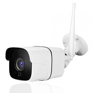 "Set Camera de supraveghere exterior IP WIFI BabyToy™ AG09, FullHD 2MP 1080p, Conectare Telefon / PC , Night Vision, rezistenta la apa, senzor miscare, alb + sticker ""obiectiv supravegheat video""1"