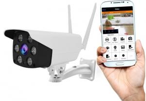 "Set Camera de supraveghere IP WIFI BabyToy™ AG02 , Exterior , Conectare Telefon / PC , night vision color, rezistenta la apa, FullHD 1920*1080, camera 2.0 MP, senzor miscare, alb + sticker ""obiectiv s [1]"