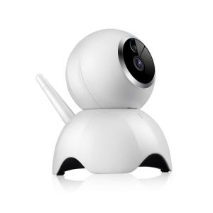 """Set Camera de supraveghere IP WIFI BabyToy™ AG19 , Conectare Telefon / PC, Night vision, Rotire automata, HD 1280*720, camera 1.0 MP, senzor miscare, alb + sticker """"obiectiv supravegheat video""""2"""