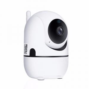 "Set Camera de supraveghere IP WIFI BabyToy™ AG26 , Full HD 2MP, Night vision, Conectare telefon / PC , Rotire automata, rezolutie 1920*1080 , senzor miscare, alb + bratara BabyToy + sticker ""obiectiv 2"