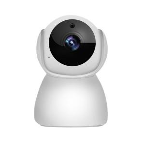 """Set Camera de supraveghere IP WIFI BabyToy™ AG27 , Full HD 2MP, Rotire Automata , Night vision, Conectare telefon / PC , Rotire automata, rezolutie 1920*1080 , senzor miscare, alb + sticker """"obiectiv  [1]"""