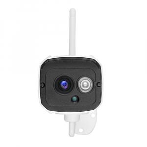 """Set Camera de supraveghere IP WIFI Sricam™ SH024 Plus SriHome Exterior , FullHD 2MP 1080p, Conectare Telefon / PC , night vision , rezistenta la apa, senzor miscare, alb + sticker """"obiectiv supraveghe2"""