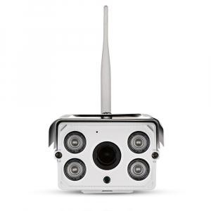 """Set Camera de supraveghere IP WIFI Sricam™ SH027 Plus SriHome Exterior , FullHD 2MP 1080p, Zoom, Conectare Telefon / PC , night vision , rezistenta la apa, senzor miscare, alb + sticker """"obiectiv supr1"""