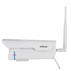 """Set Camera de supraveghere IP WIFI Sricam™ SH027 Plus SriHome Exterior , FullHD 2MP 1080p, Zoom, Conectare Telefon / PC , night vision , rezistenta la apa, senzor miscare, alb + sticker """"obiectiv supr2"""