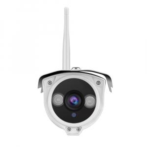 "Set Camera de supraveghere IP WIFI Sricam™ SP007 Plus, Exterior , Conectare Telefon / PC , night vision , rezistenta la apa, FullHD 1920*1080, camera 2.0 MP, senzor miscare , alb + sticker ""obiectiv s2"