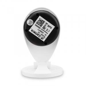 "Set Camera de supraveghere IP WIFI Sricam™ SP009 Plus, Conectare Telefon / PC , Night vision, Notificare pe mail, Sunet bidirectional,  HD 1280*720, camera 1.0 MP, senzor miscare + sticker ""obiectiv s4"
