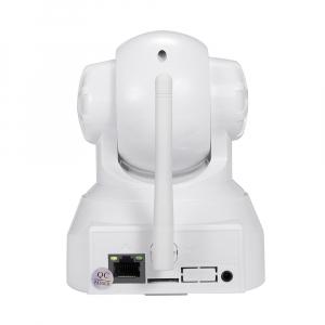 """Set Camera de supraveghere IP WIFI Sricam™ SP012 , Conectare Telefon / PC, Night vision, Rotire automata, HD 1280*720, camera 1.0 MP, senzor miscare, alb + sticker """"obiectiv supravegheat video""""4"""