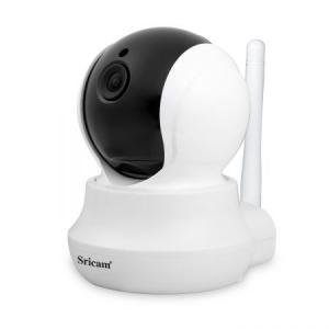 Set Camera de supraveghere IP WIFI Sricam™ SP020 , FullHD 2MP, Conectare Telefon / PC , Night vision, Rotire automata, rezolutie 1920*1080, senzor miscare, alb/negru [3]