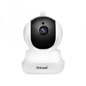 Set Camera de supraveghere IP WIFI Sricam™ SP020 , FullHD 2MP, Conectare Telefon / PC , Night vision, Rotire automata, rezolutie 1920*1080, senzor miscare, alb/negru [4]