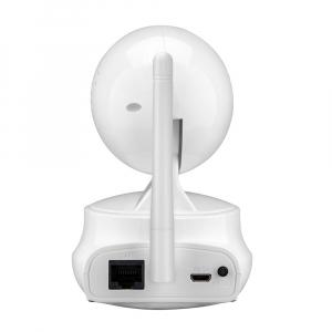 """Set Camera de supraveghere IP WIFI Sricam™ SP025 Plus, Conectare Telefon / PC , Night vision, Rotire automata, HD 1280*720, camera 1.0 MP, senzor miscare, alb + sticker """"obiectiv supravegheat video"""" [4]"""