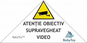 """Set Camera de supraveghere IP WIFI Sricam™ SP025 Plus, Conectare Telefon / PC , Night vision, Rotire automata, HD 1280*720, camera 1.0 MP, senzor miscare, alb + sticker """"obiectiv supravegheat video"""" [5]"""