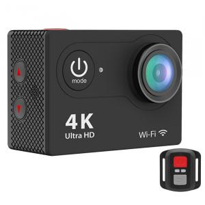 "Set Camera Video Sport Eken H9R Black 4k@25fps, Wifi, 2""LCD, telecomanda, accesorii, carcasa waterproof, negru + sticker ""obiectiv supravegheat video""2"