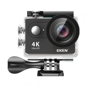 "Set Camera Video Sport Eken H9R Black 4k@25fps, Wifi, 2""LCD, telecomanda, accesorii, carcasa waterproof, negru + sticker ""obiectiv supravegheat video""1"