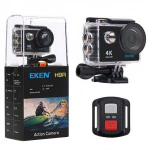 "Set Camera Video Sport Eken H9R Black 4k@25fps, Wifi, 2""LCD, telecomanda, accesorii, carcasa waterproof, negru + sticker ""obiectiv supravegheat video""0"