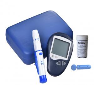 Set Glucometru Sejoy BG102 , 10 ace , 10 teste , dispozitiv de intepare,  glucoza si, auto-intepator, testare rapida si precisa, nu necesita codare, albastru [0]