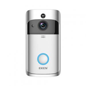 Sonerie fara fir wireless smart EKEN S1 Pro, videointerfon, wifi, cu acumulator, alerta miscare, inregistrare, comunicare bidirectionala, modul sonerie interior inclus, argintiu1