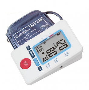 Tensiometru de brat Sejoy BP1326 Premium, Afisaj LCD cu caractere mari, Auto-masurare, Detectare puls neregulat, Validat clinic, Manseta 22-36cm, Oscilometric, Adaptor manson inclus, Alb + Husa transp [0]