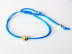 Bratara cu trifoi, placat cu aur, cu snur ajutabil, potrivita pentru cupluri sau BFF [1]