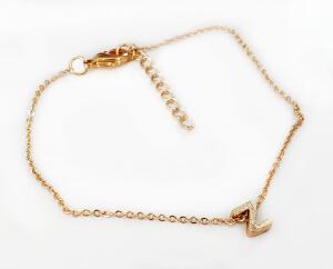 Bratara personalizata cu initiala, placata cu aur [4]