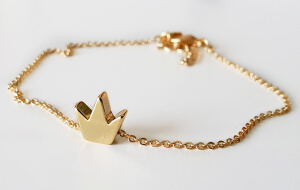 Bratara personalizata cu initiala, placata cu aur [5]