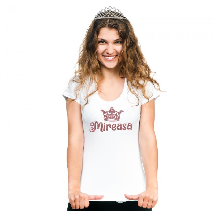 Tricou Mireasa, tricou din bumbac alb, personalizat [0]