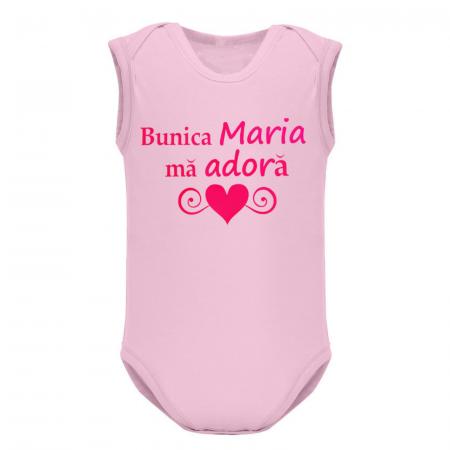 Body bebe personalizat din bumbac, Bunica ma adora [0]