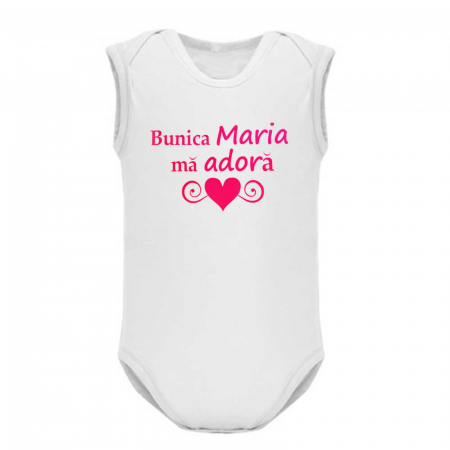 Body bebe personalizat din bumbac, Bunica ma adora [1]