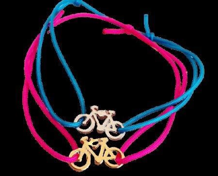 Bratara magica cu charm bicicleta, placat cu aur sau cu argint, cu snur ajustabil [2]