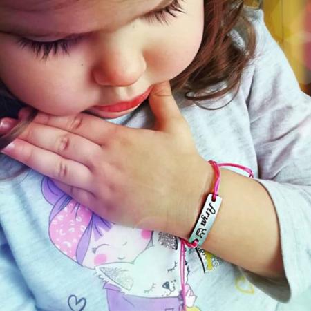 Bratara personalizata cu nume gravat, pentru copii si bebelusi, cu snur ajustabil [0]