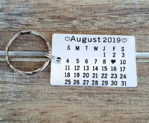 Breloc personalizat, cu calendar, save the date