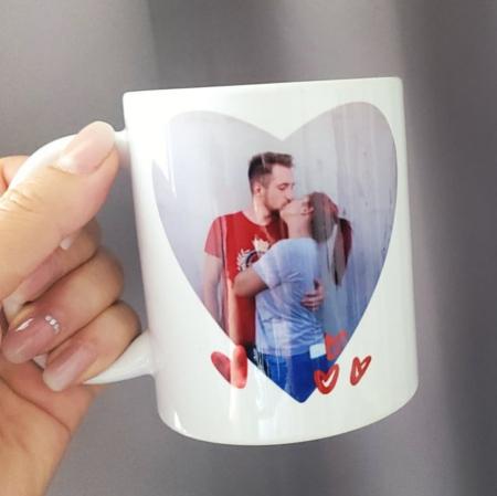 Cana personalizata cu fotografie inimioara, love, pentru cuplu [1]