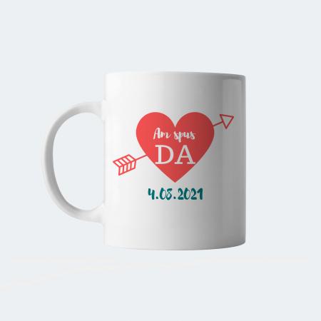 Cana personalizata Am spus Da, cu nume si data casatoriei [1]