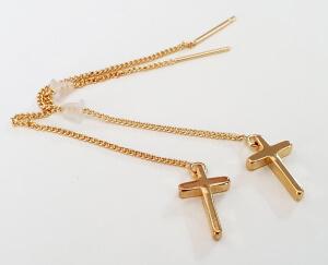 Cercei cu cruciulita placati cu aur [1]